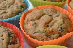 Muffin de espinafre e farinha de arroz