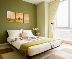 Спальня в зеленых тонах фот (5)