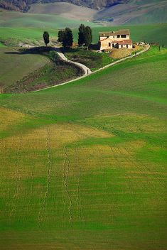 typical landscape in Tuscany - beautiful in the truest sense of the word