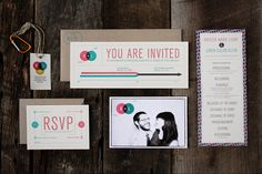 50 kreative Hochzeitseinladungen, Danksagungen und mehr   KlonBlog