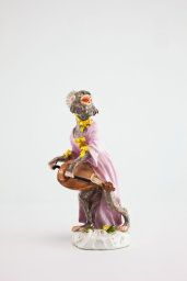 Manufacturer: Meissen Porcelain Manufactory, German, founded 1710, after a model of Kändler or Reinicke Monkey Band, Hurdy-Gurdy Player, c. 1765