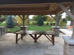Reclaimed Barn door makes a perfect table to sit beside this awesome outdoor kitchen Outdoor Furniture, Outdoor Decor, Barn, Doors, Awesome, Kitchen, Table, Home Decor, Converted Barn