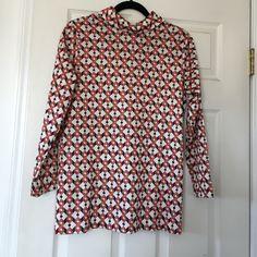Vintage Geometric Pattern Long Sleeve Top/Dress In excellent condition. Vintage Tops Tees - Long Sleeve