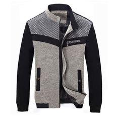 Cool Men's Coats for Sale Online Page 3 Sweater Jacket, Men Sweater, Brown Leather Bomber Jacket, Mens Clothing Styles, Mens Sweatshirts, Mantel, Sportswear, Winter Jackets, Men Casual