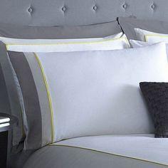 J by Jasper Conran Grey 'Wilton' Oxford pillow case pair | Debenhams