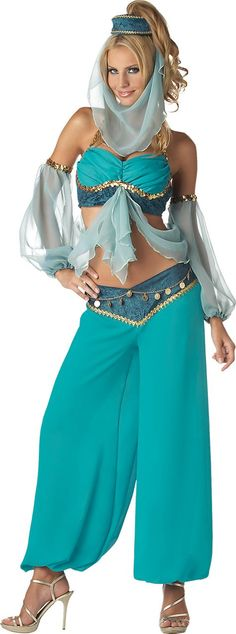 Adult Premier Harem Jewel Genie Costume - Party City