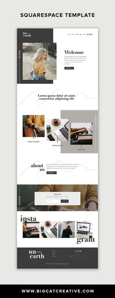 Unearth Squarespace Template is a modern and artistic website template that is p. Unearth Squarespace Template is a modern and artistic website template that is perfect for small business owners, ar Web Design Trends, Site Web Design, Web Design Quotes, Website Design Layout, Design Blog, Web Design Company, Web Layout, Layout Design, Simple Website Design