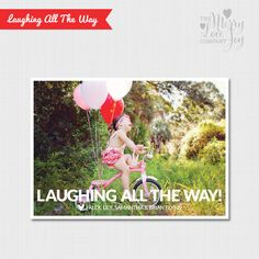 Laughing All The Way Printed Holiday Card