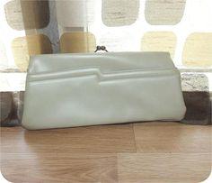 Vintage 60s Clutch Bag  1960s Clutch Purse  Bone Ivory