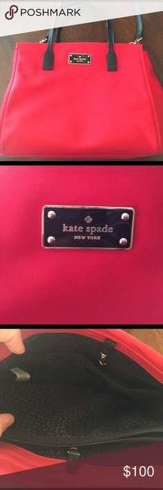 """Kate Spade Crossbody Kate Spade small nylon Loden crossbody purse. Nylon material. 11.5"""" (L) x 9"""" (H) x 4.5"""" (D). One small scuff on side shown in picture. Otherwise in perfect condition! kate spade Bags Crossbody Bags"""