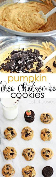 Pumpkin Oreo Cheesecake Cookies. So easy to make. If you love Pumpkin Cheesecake, you'll love this recipe!