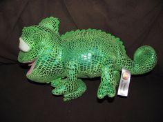 Disney Tangled Pascal Plush Rapunzel Toy Chameleon Lizard Stuffed Green #Disney