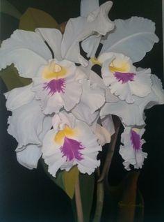 Orquídea ;painel 80/60;(óleo sobre tela )