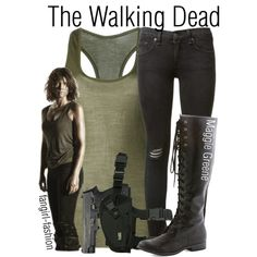 Maggie Greene- AMC's The Walking Dead by avey-kates on Polyvore featuring mode, Jean Colonna, rag & bone, Maggie, AMC, thewalkingdead and Greene