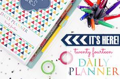 IHeart Organizing: 2014 Daily Planner FAQ's