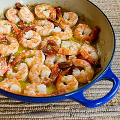 Just made this. Very good. I marinated the shrimp in garlic and olive oil and lemon juice in the fridge for 2 hours before cooking. Served over couscous with greek salad. Kalyn's Kitchen®: Recipe for Easy Garlic and Lemon Shrimp