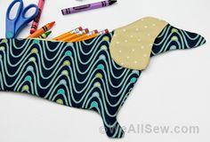 sew: Dachshund Pencil Case Free Pattern || We All Sew