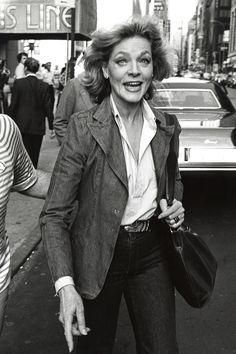 An older Lauren Bacall
