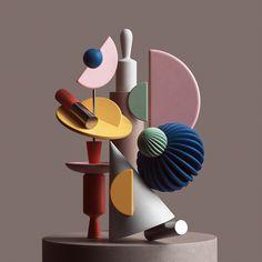 Behance is the world's largest creative network for showcasing and discovering creative work Abstract Sculpture, Sculpture Art, Modern Sculpture, Mobiles Art, Blender 3d, Accessoires Photo, Composition Art, Memphis Design, Modelos 3d