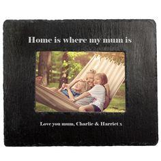 Home Is Where Mum Is Slate Photoframe, £24.99