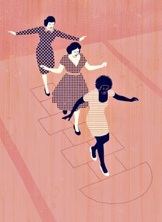 Joey Guidone - Happy Women's Day! Editorial, Conceptual, Design, Poster, Hopscotch, Pattern
