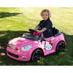 hello kitty battery powered electric car kids toy hello kitty pink girls ride on