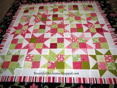 easy quilt patterns using 5 inch squares | Here is the result -- which is about 32 inches square.