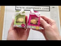 ***GREAT VIDEO/DIRECTIONS*** How to create a candy / treat holder for a Ferrero Rocher chocolate