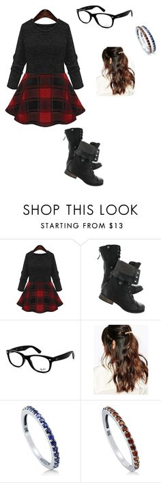 """Untitled #121"" by vic-valdez on Polyvore featuring Ray-Ban, Suzywan DELUXE and BERRICLE"