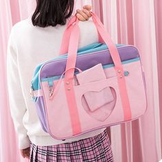 Preppy Style Pink Shoulder School Bag  Price: 23.62 & FREE Shipping  #tykebags