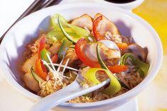 Das Rezept für Reispfanne mit Rotbarsch mit allen nötigen Zutaten und der einfachsten Zubereitung - gesund kochen mit FIT FOR FUN