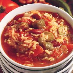 Looking for a hearty #dinner to make as the temperature outside drops? Jambalaya Stew is a filling meal sure to satisfy the whole #family.