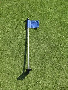"""Product review for Golf - Putting Green - (1) 30"""" Practice Green Pin Marker w/ Easy Grab Knob and Ball Lifter Disk + (1) Solid BLUE Colored Jr Flag Included - (Please visit our website for more details)."""
