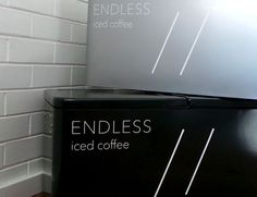 Slater St. Bench   cafe, Melbourne #icebox #esky #softbranding #decal #text