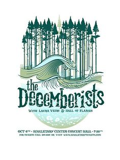 The Decemberists concert gig poster