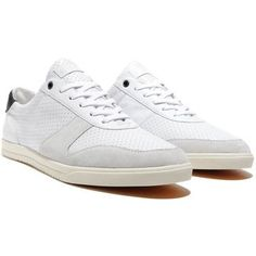 Gregory White Perf Leather by Clae ($46)