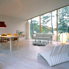 Serenity Now: A Swedish Summer House White Washed Floors, Swedish Cottage, Serenity Now, Sustainable Architecture, Architecture Design, White Rooms, My Dream Home, Home And Living, Interior Inspiration