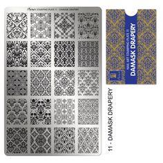 Stamping plate No:11 Damask Drapery Moyra 9