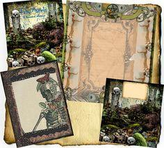 Book of Shadows:  Digital BoS Pagan  Wiccan graphics, by Grimdeva.