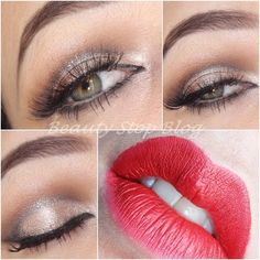 Try this romantic makeup on your next date night! Put on a burst of red lippies for a perfect look!