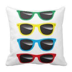 Funky coole Sonnenbrillen Kissen #Dekokissen #Kissen #Zierkissen #DekokissenART