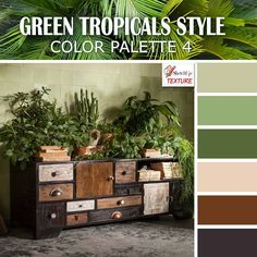 Green tropical style color palette 4