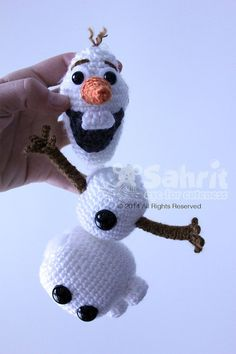 PATTERN Instant Download Detachable Olaf Crochet Doll by Sahrit, $5.95