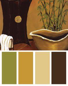 Asian Living Room Color Palette
