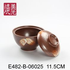 Japanese soup bowl with lid&ceramic lidded bowl E482-B-06025  Size: diameter 6 inch x height 4.2 inch