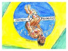 Resultado de imagem para charges golpe no Brasil