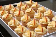 Picture of Peach Cupcakes With Peach Cream Cheese Frosting