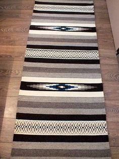 Handwoven wool rug - made to order - grey, brown, white and black
