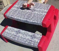 Caroline's Crafty Corner: Kids Picnic Table Redo