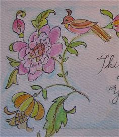 French antique embroidery pattern... my watercolour.